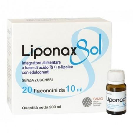 I.B.N. SAVIO - Liponax Sol 20 Flaconcini da 10 ml - Integratore per il tono e l'energia