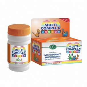Multicomplex Junior 50 gustosi Dinosauri - Integratore di vitamine e minerali