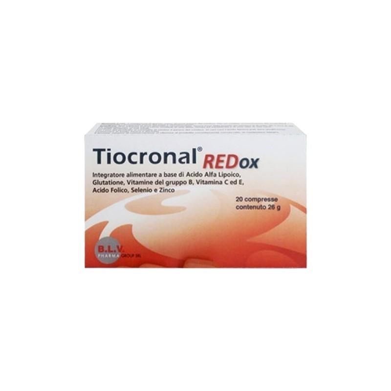 BLV PHARMA GROUP - Tiocronal Redox 20 compresse - Integratore antiossidante
