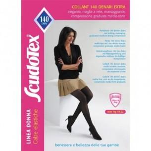 Calze elastiche a compressione graduata 140 Den Extra Colore Nero Taglia 2