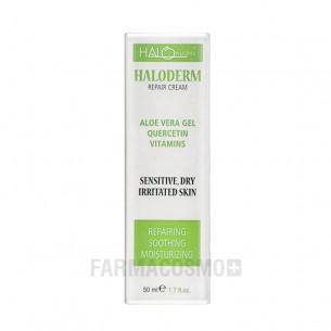 Haloderm Crema HR - Idratante Lenitiva Per Pelli Sensibili Con Aloe Vera 50 Ml