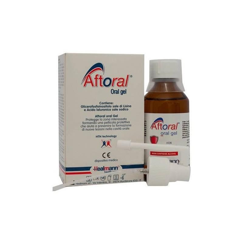 HEALMANN - Aftoral Oral Gel - Collutorio contro afte e lesioni orali 200 ml
