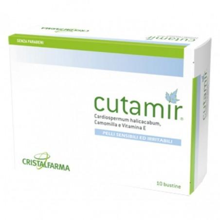 CRISTALFARMA - Cutamir - Crema lenitiva per la cute 10 bustine da 5 ml