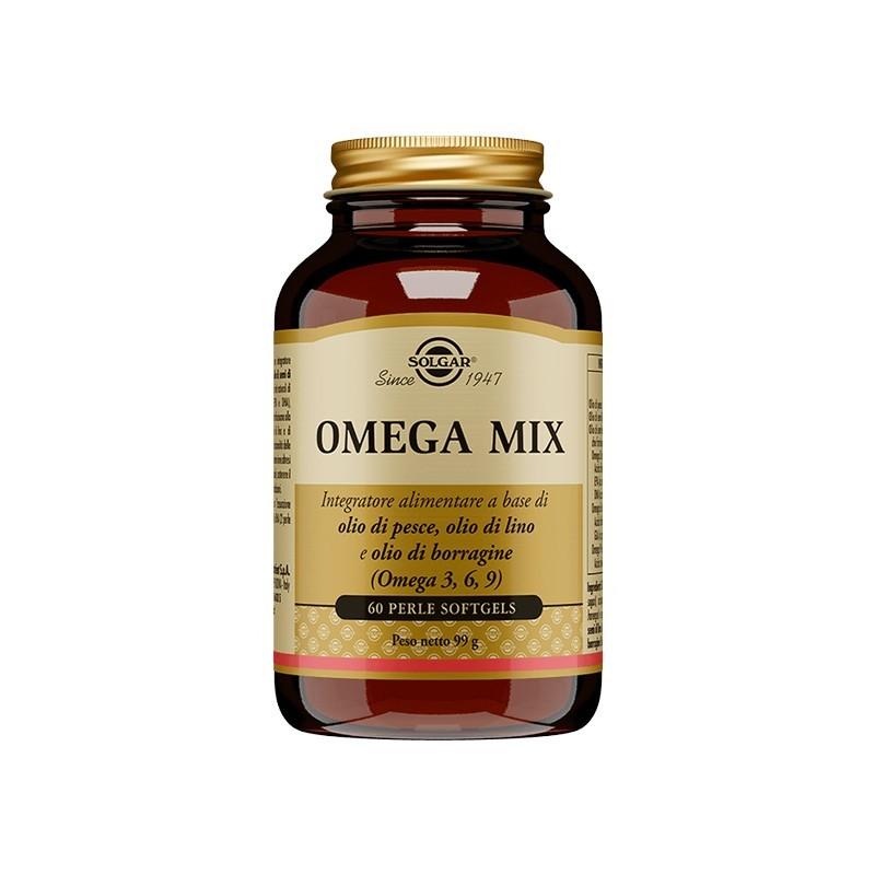 SOLGAR - Omega Mix 60 Perle - Integratore Per Il Controllo Del Colesterolo E Dei Trigliceridi