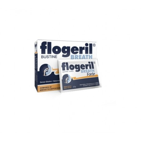 SHEDIR PHARMA - Flogeril Breath Forte 18 Bustine - Antinfiammatorio per naso orecchie e gola