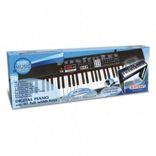 Music Academy - Piano Digitale 61 Tasti con Gambe in Legno