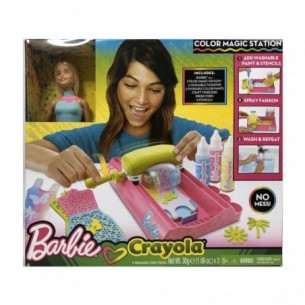 Barbie - Color Magic Station con Abiti da Colorare