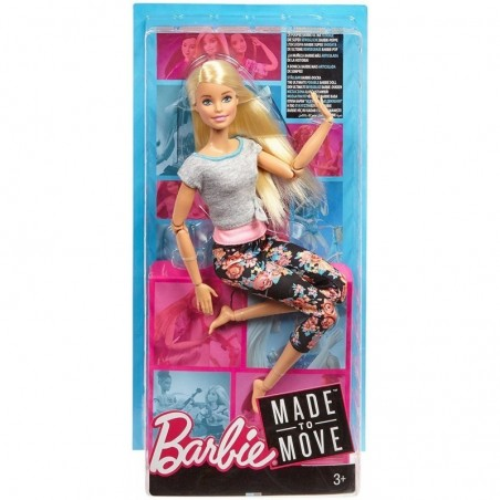 MATTEL - Barbie Made to Move - Bambola Con 22 Punti Snodabili