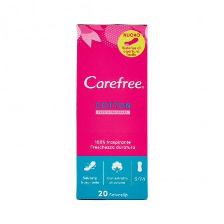 CAREFREE - Cotton fresca fragranza - 20 salvaslip