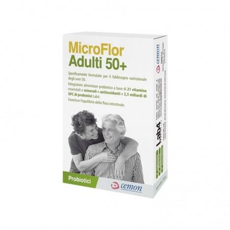 CEMON - Microflor Adulti 50+ Integratore per la flora intestinale 30 Capsule