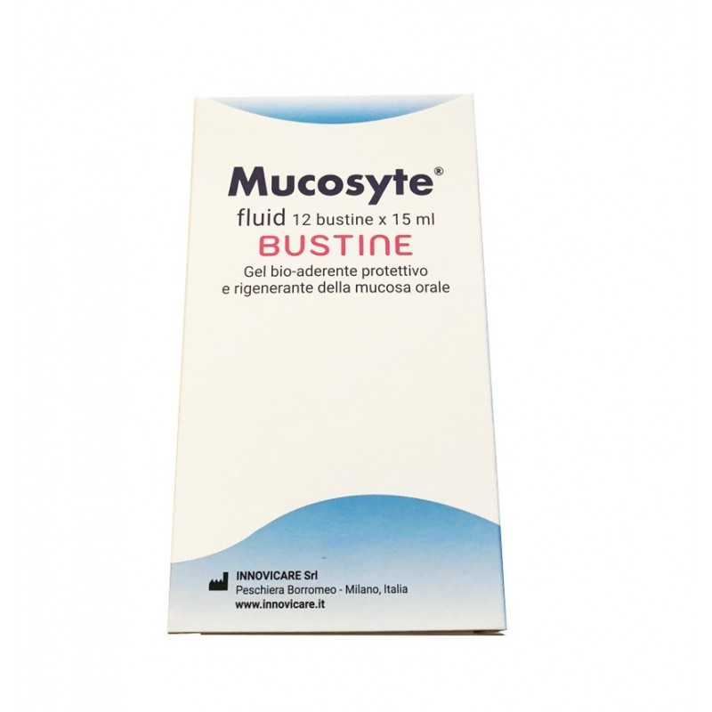 INNOVICARE - Mucosyte Fluid 12 Bustine 15 ml - gel protettivo e rigenerante della mucosa orale
