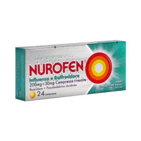 RECKITT BENCKISER - Nurofen 200 mg + 30 mg Influenza e Raffreddore - analgesico decongestionante 24 compresse