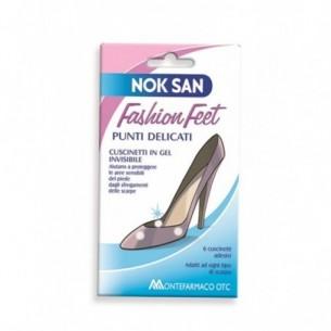 Nok san Fashion Feet - 6 cuscinetti adesivi per punti delicati