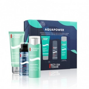 Cofanetto AquaPower - Mousse da barba + Crema idratante viso + Gel doccia