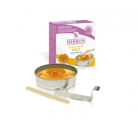 HIBROS - Miele - Cera a caldo con tegamino da 100 ml