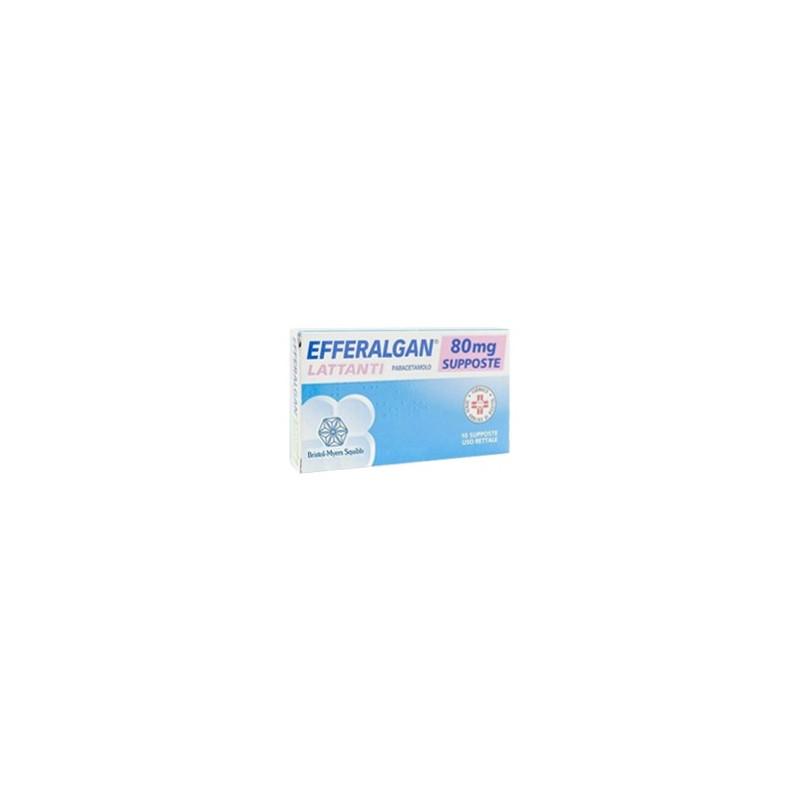 Efferalgan - Lattanti 10 supposte 80 mg - Farmaco antipiretico per neonati
