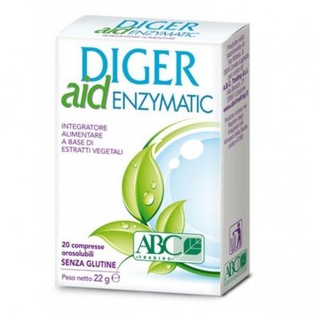 ABC TRADING - Diger Aid Enzymatic 20 compresse - integratore di fibre