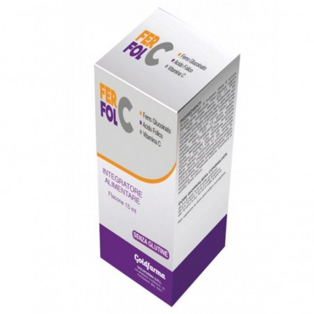 GOLDFARMA - Fer Fol C 15 ml - Integratore di vitamine e minerali
