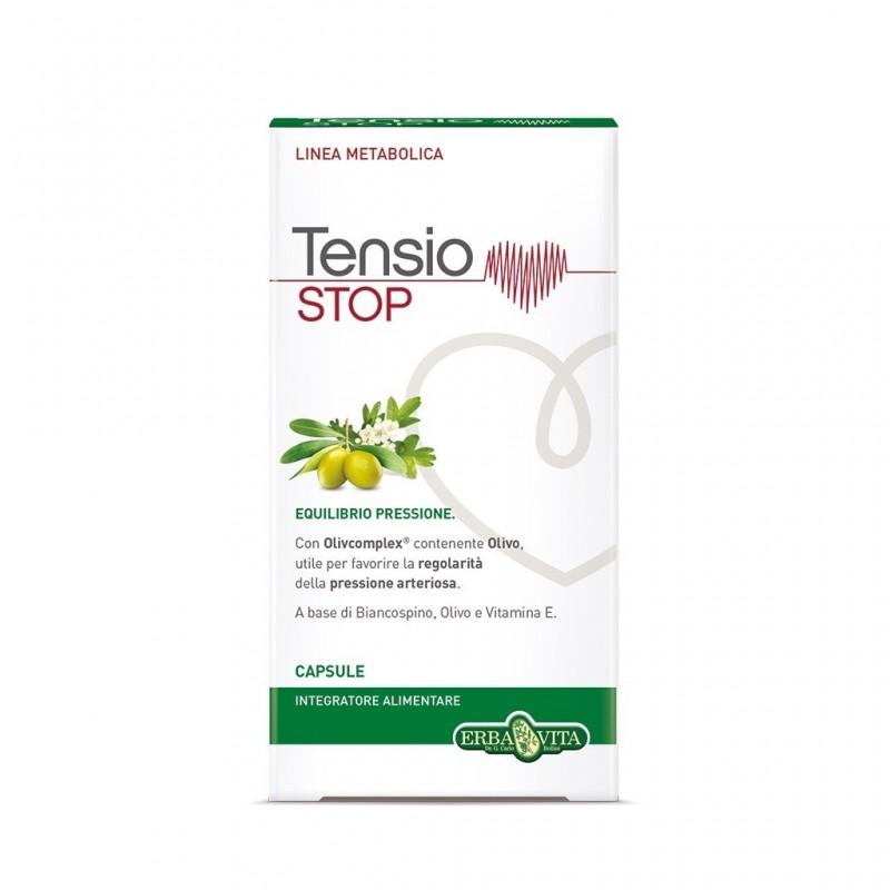 ERBA VITA - Tensio Stop 45 capsule - Integratore per la regolarità della pressione arteriosa