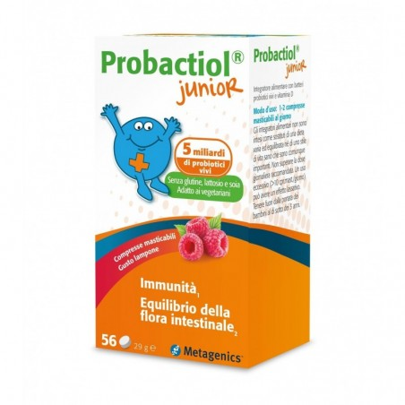 METAGENICS - Probactiol Junior 56 compresse masticabili - Integratore di probiotici vivi