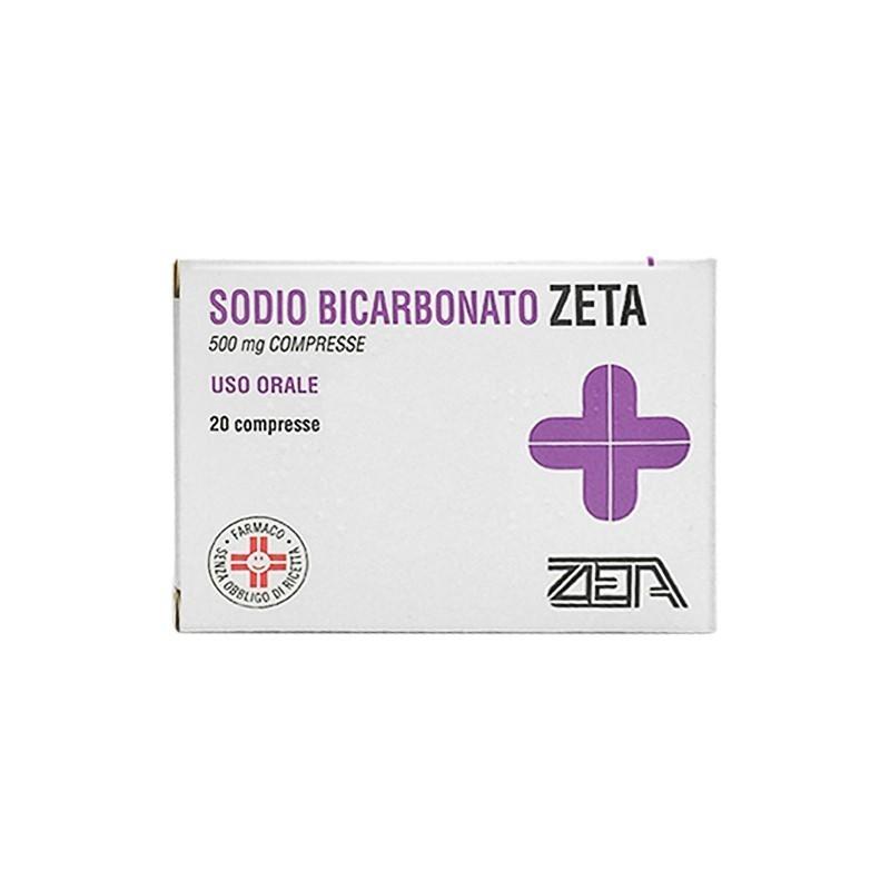 ZETA FARMACEUTICI - Sodio Bicarbonato 500 mg - Antiacido 20 compresse