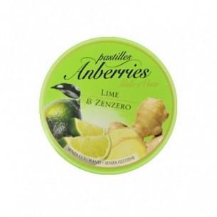 Anberries gola e voce - Pastiglie Lime & Zenzero 55 g