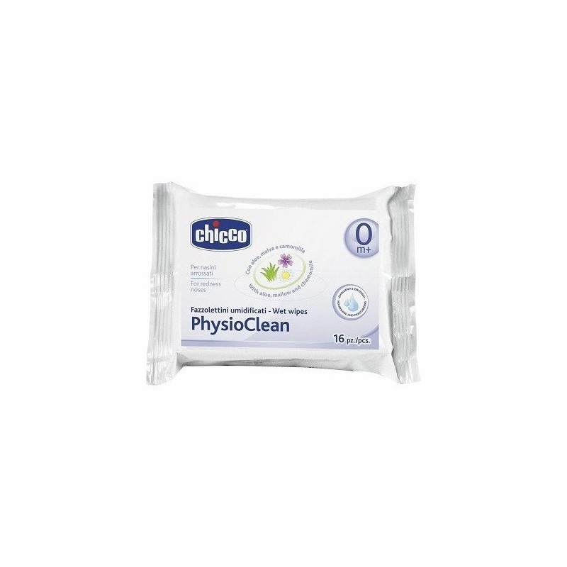 Chicco - Physioclean - 16 Fazzolettini umidificati