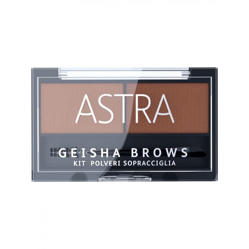 ASTRA - Geisha Brows Kit - Polveri Sopracciglia N.02 Brown