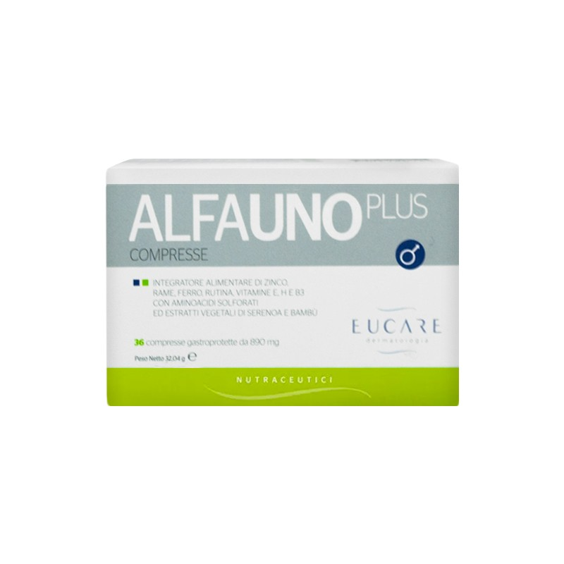 EUCARE - alfauno plus - integratore per unghie e capelli specifico per uomo 36 capsule