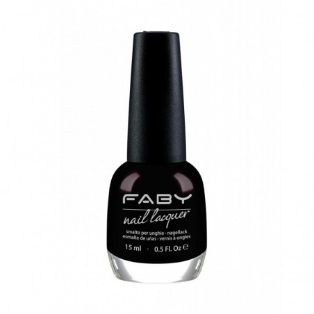 FABY - Nail Lacquer - Smalto per unghie 15 ml - Black Is Black