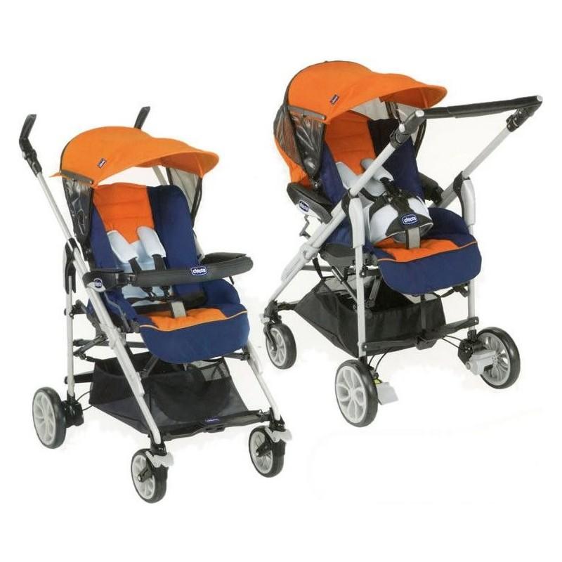 For Me Passeggino Completo - Colore Mistral Blue E Arancio