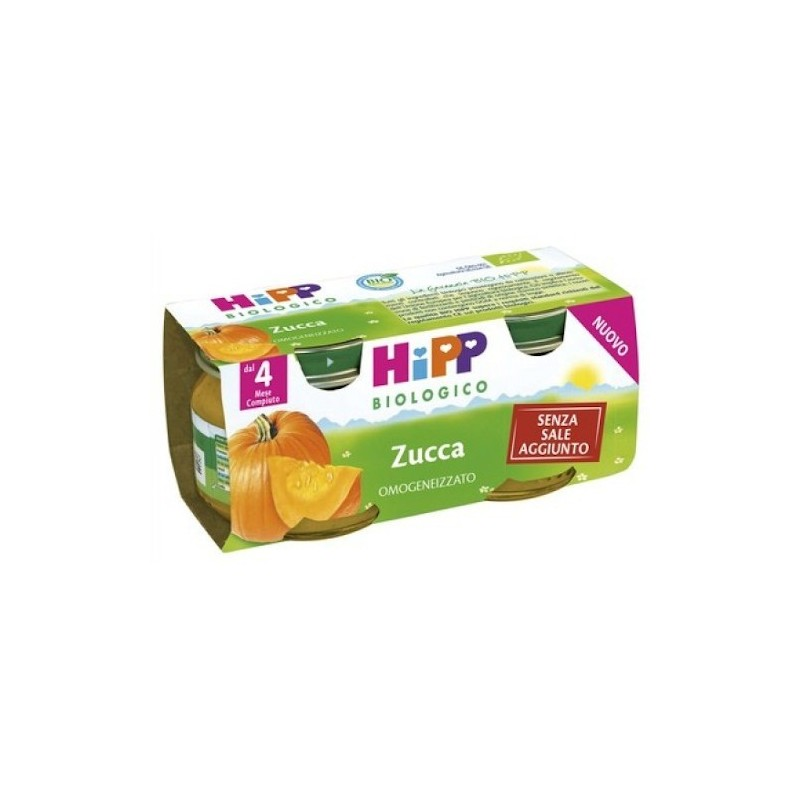 HIPP - Biologico - Omogeneizzato Zucca 2 x 80 g