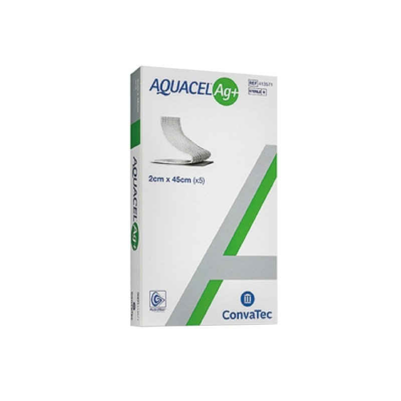CONVATEC - Aquacel Ag+ 5 nastri da medicazione 2 cm X 45 Cm