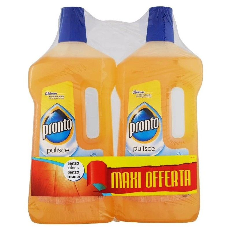 PRONTO - Legno Pulito classic - Detergente liquido per pavimenti in legno 2 x 750 Ml