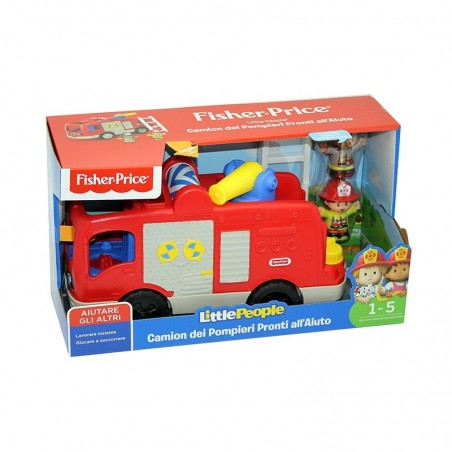 FISHER-PRICE - Little People - Camion dei Pompieri pronti all'aiuto