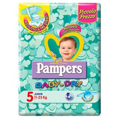Pampers - Baby Dry Junior- 52 Pannolini Taglia 5 (11-25 Kg)