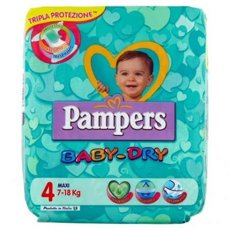 Pampers - Baby Dry Maxi- 58 Pannolini taglia 4 (7-18 Kg)