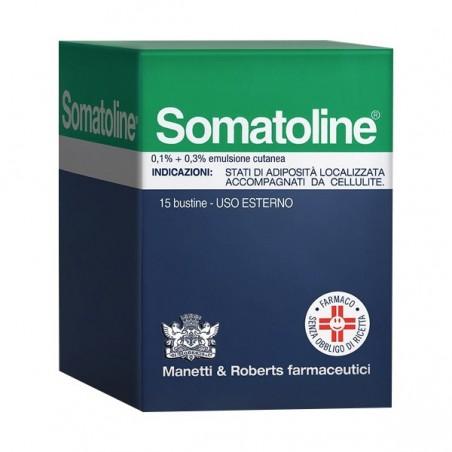 Somatoline - 0,1% + 0,3% Emulsione Cutanea - contrasta la cellulite 15 bustine
