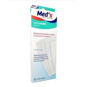 Meds Farmapore - Medicazione adesiva sterile 10 x 30 cm - 3 buste singole
