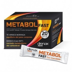 Drenax Metabol Fast 20 Stick - acceleratore del metabolismo