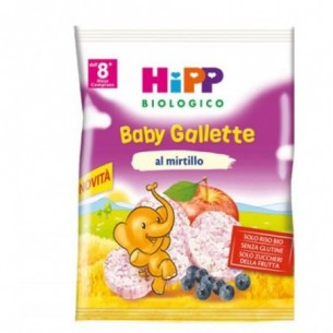 Gallette di riso ai mirtilli biologiche 30 g