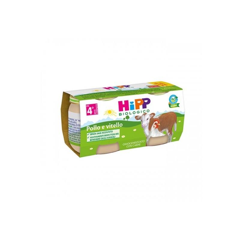 HIPP - Omogeneizzato al pollo e vitello 2x80 g