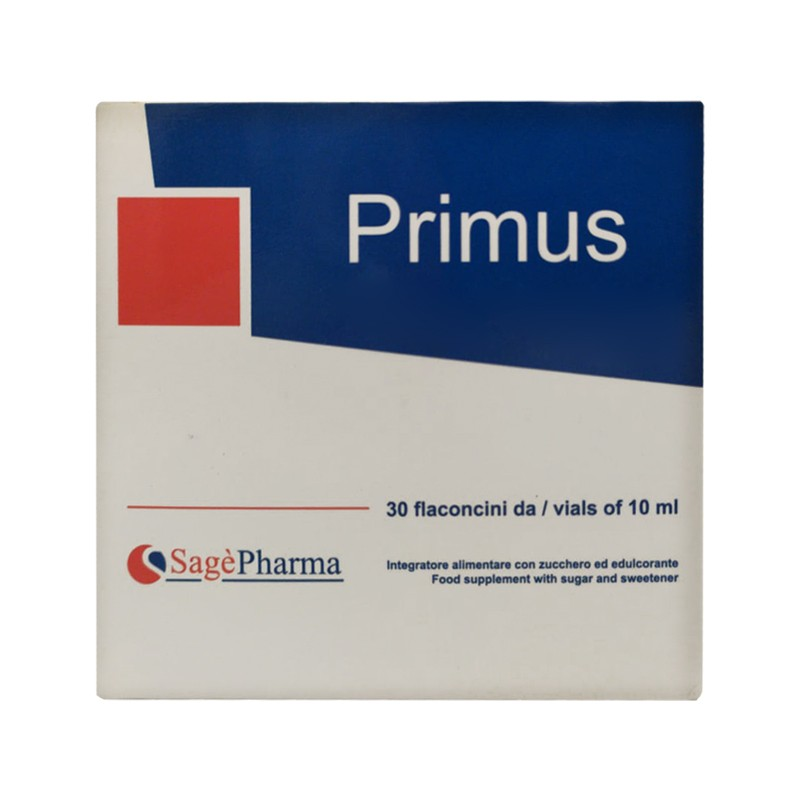 SAGE PHARMA - Primus 30 Flaconcini da 10 ml - Integratore per la stanchezza e l'affaticamento