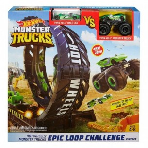 Hot Wheels - Playset Sfida nel Loop Monster Truck
