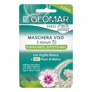 Maschera viso 5 minuti - trattamento purificante effetto mat 2 dosi