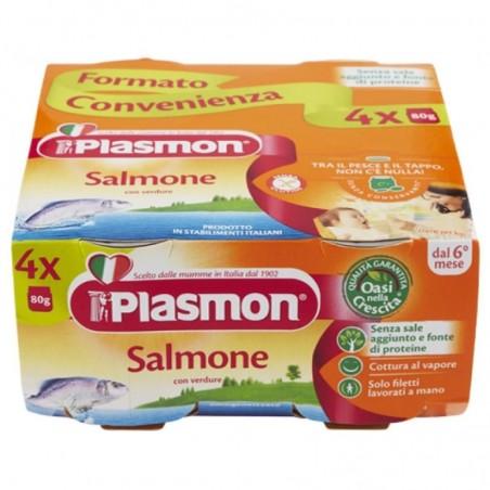 Plasmon - Omogeneizzato di salmone e verdure 4x80 g