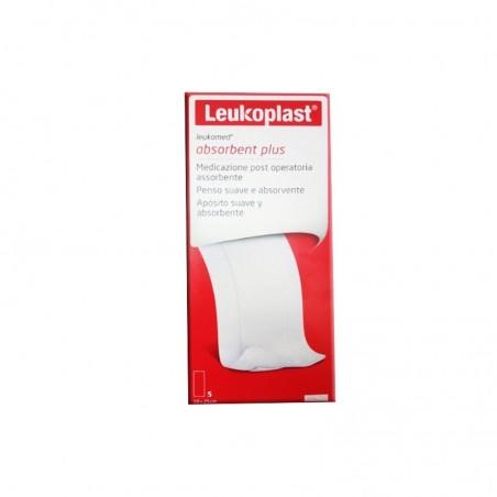 BSN MEDICAL - Lukoplast Leukomed absorbent plus - 5 medicazioni post operatorie assorbenti 10 cm X 25 cm