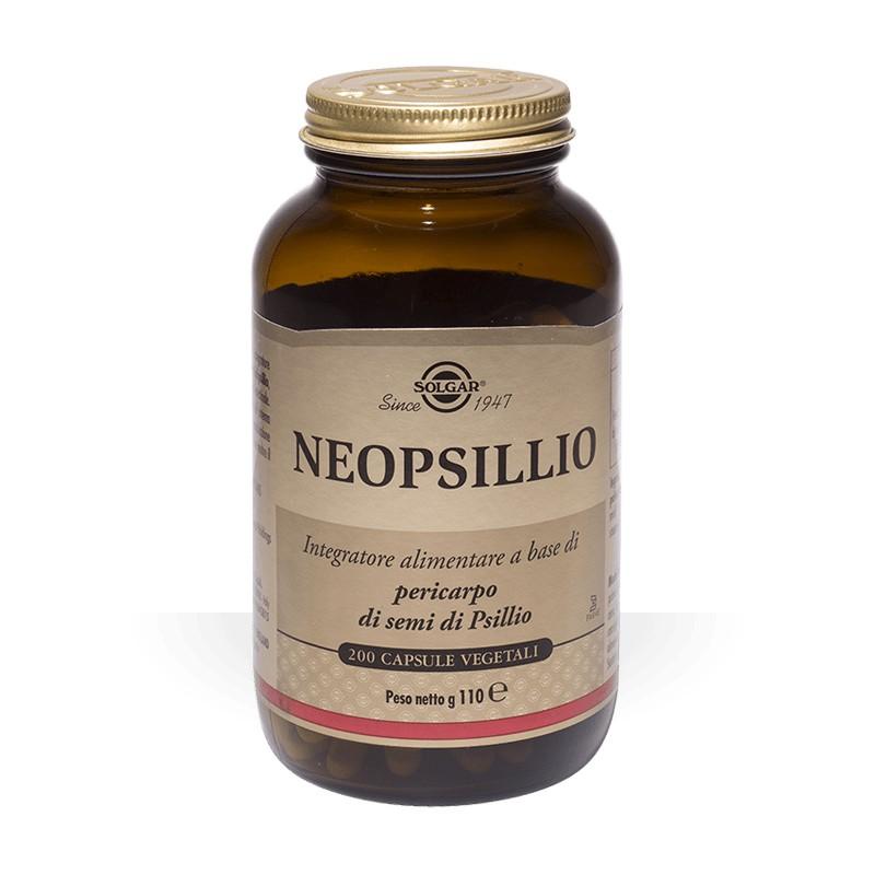 SOLGAR - Neopsillio 200 capsule vegetali - integratore per favorire la regolarità del transito intestinale