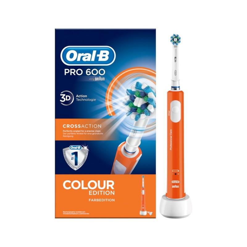 ORAL-B - pro 600 crossaction colour edition spazzolino elettrico arancione