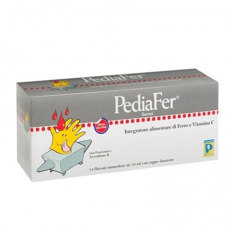 PEDIATRICA SPECIALIST - Pediafer 14 Flaconi - Integratore Per Bambini Di Ferro E Vitamina C